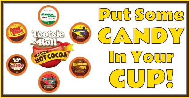 #WinSomeTootsie and enjoy some #CandyInYourCup! 30 lucky people who enter will #win their choice of Juniors Mint, Sugar Babies, Charleston Chew, or Tootsie Roll 40-count Single Serve Pods when this #giveaway #contest ends. Plus, 2 grand prize winners will also receive a storage drawer to keep all that yummy @TootsieHotCocoa in.