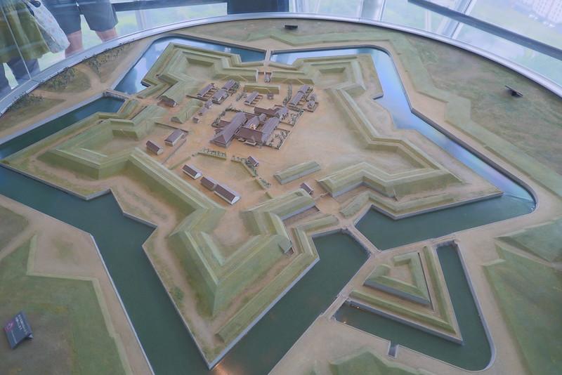 五稜郭 scale model