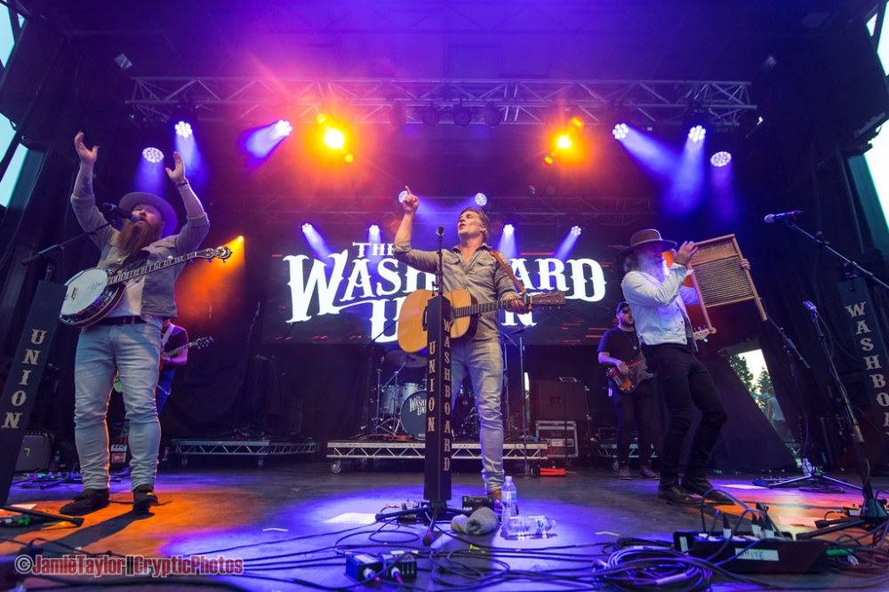 Vancouver band The Washboard Unions performing at Summerset Music & Arts Festival at Fort Langley in Langley, BC on September 1st, 2019