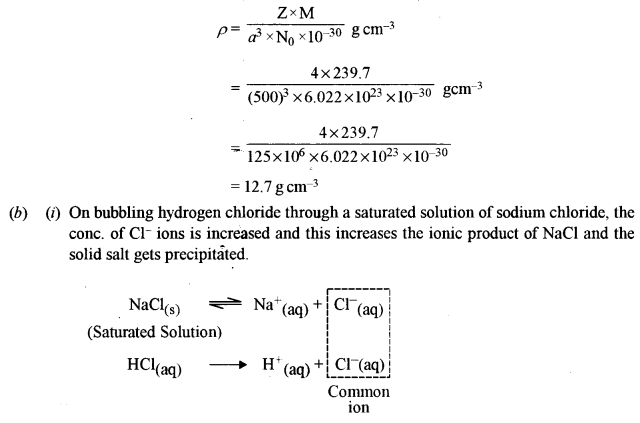 ISC Chemistry Question Paper 2010 Solved for Class 12 Q3.1