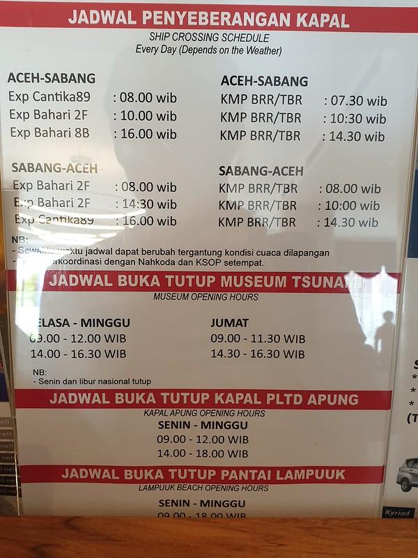 ferry schedule banda aceh sabang pulau weh