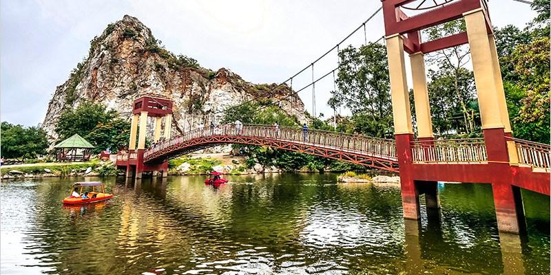 泰國叻丕府景點 | 蛇石山國家公園 Khao Ngu Stone Park-環境幽靜,可乘小船,好拍照的石灰岩山脈景區。