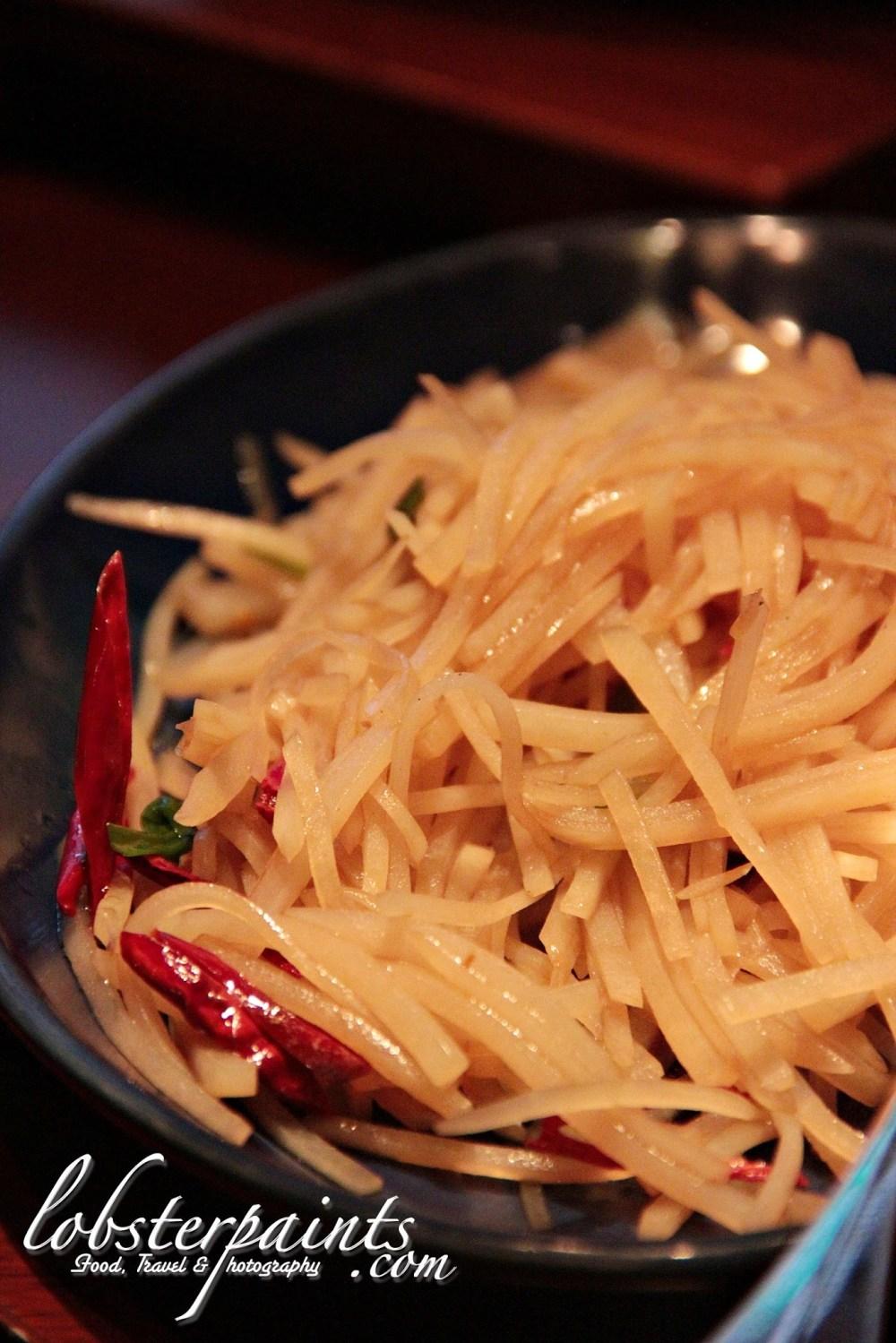 Shredded Potato, Dried Chili & Coriander 辣椒炒土豆丝 @ Beijing Kitchen 滿堂彩 | Grand Hyatt, City of Dreams, Macau