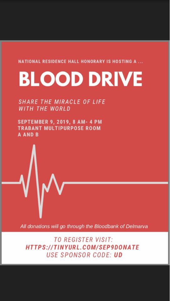 Blood Bank of Delmarva comes to campus for a blood drive