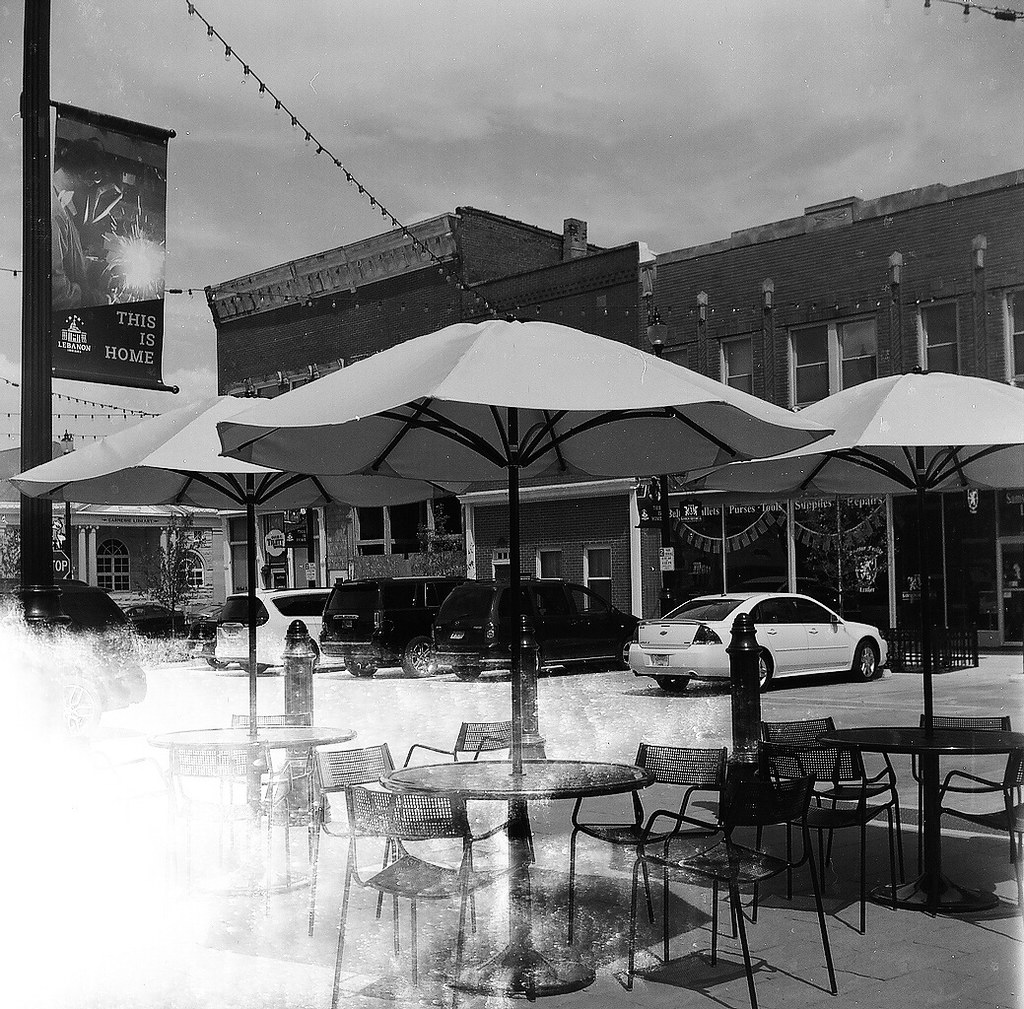 Umbrellas and light leak