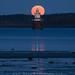 Harvest Moon over Lubec Channel Light