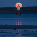 Harvest Moon over Lubec Channel Light