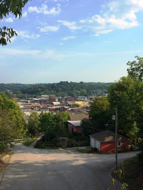 Downtown Hannibal From Lighthouse Hill