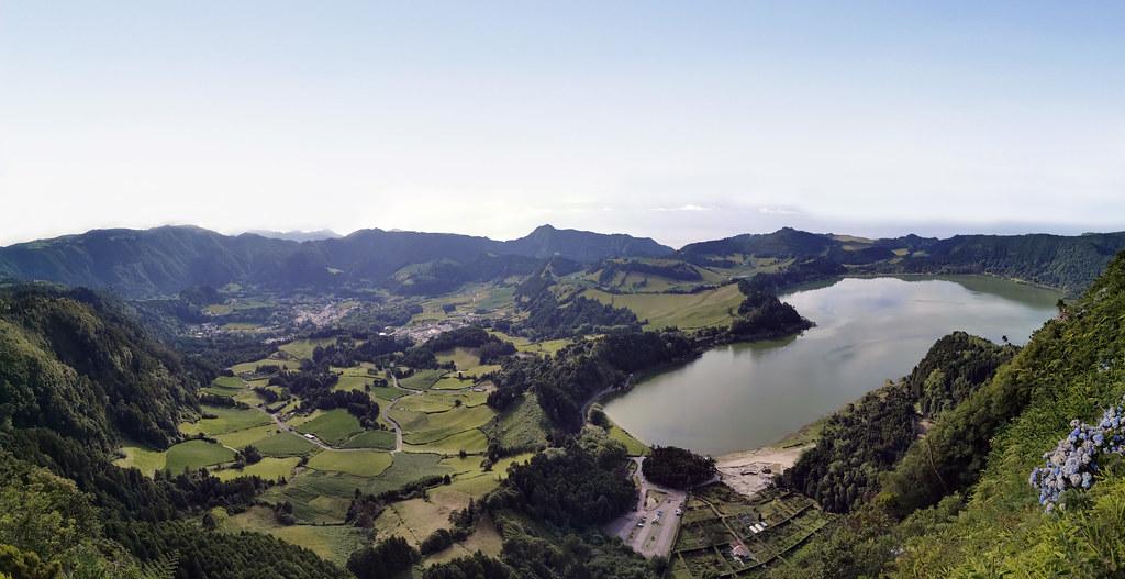 Desde Mirador Pico do Ferro Lagoa das Furnas Isla San Miguel Azores Portugal 02