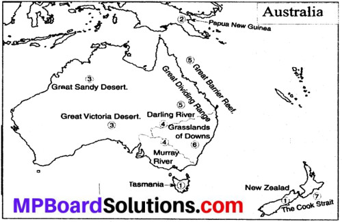 MP Board Class 8th Social Science Solutions Chapter 23 Australia-Geographical features img 1