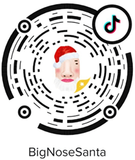 TikTok Big Nose Santa
