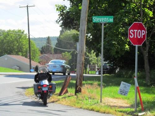 Stevens Road in Stevens, PA