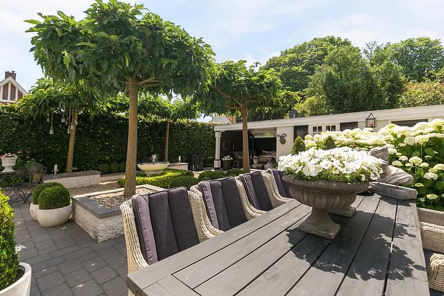 Landelijke tuin terras ideeën