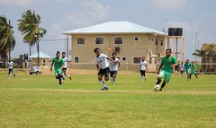 Some of the football action on Day one of the Heritage Games.