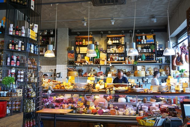 Inside a traditional Sicilian grocery store - Fratelli Burgio, Siracusa