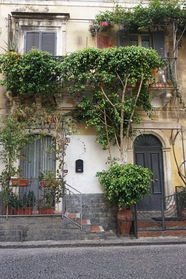 Traditional houses in Catania