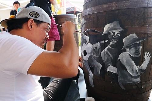 Tanduay Rum Festival Barrel Art Painting