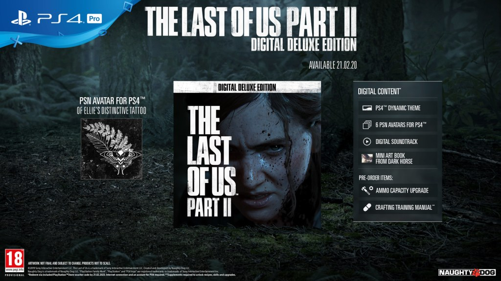 The Last of Us Part II Digital Deluxe Edition on PS4