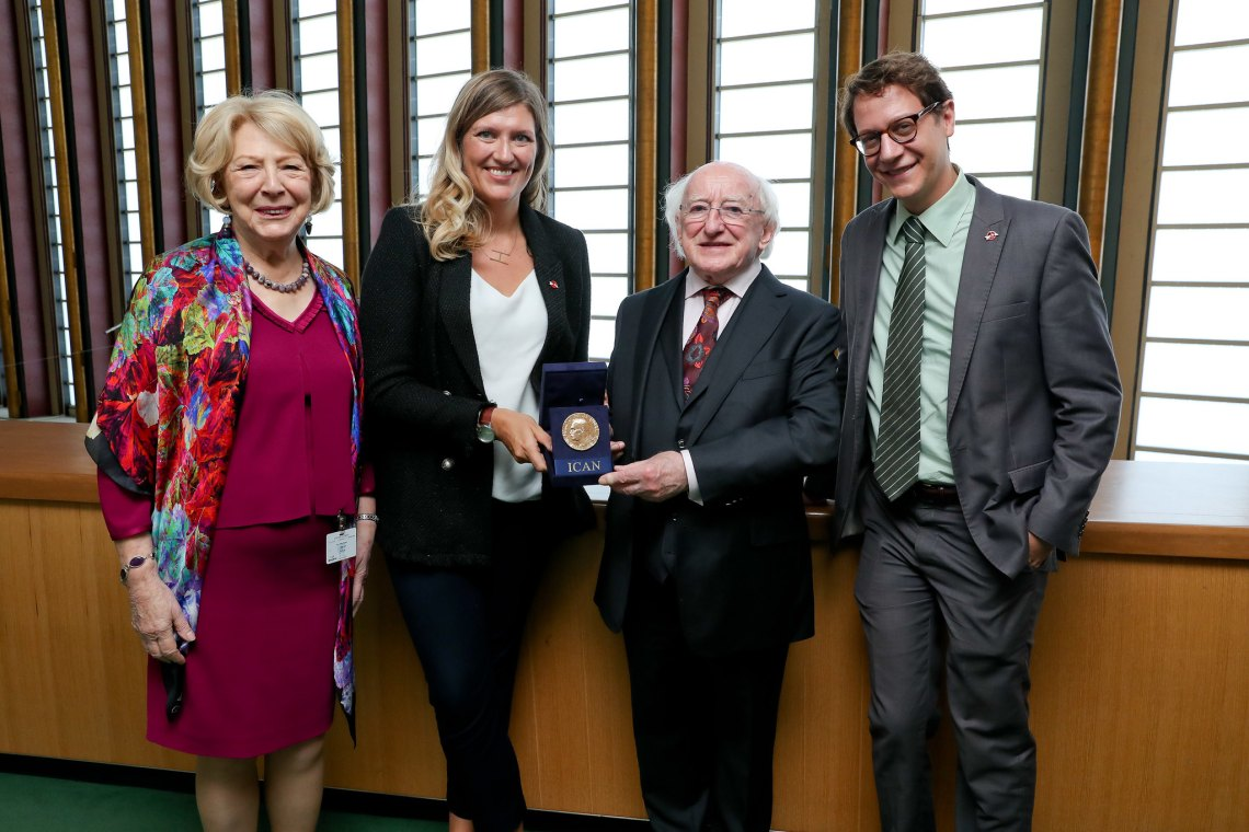 ICAN meets Irish President Michael Higgins
