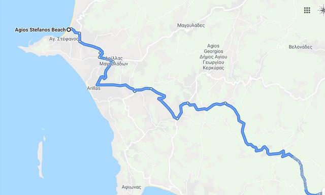 Agios Stefanos - maps