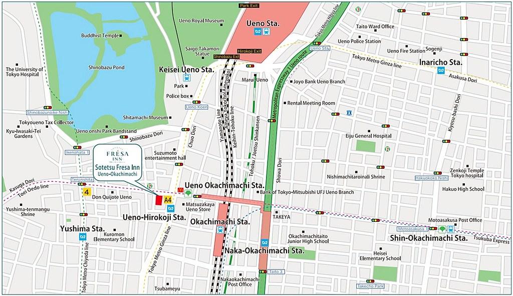 Sotetsu Fresa Inn Ueno-Okachimachi Map