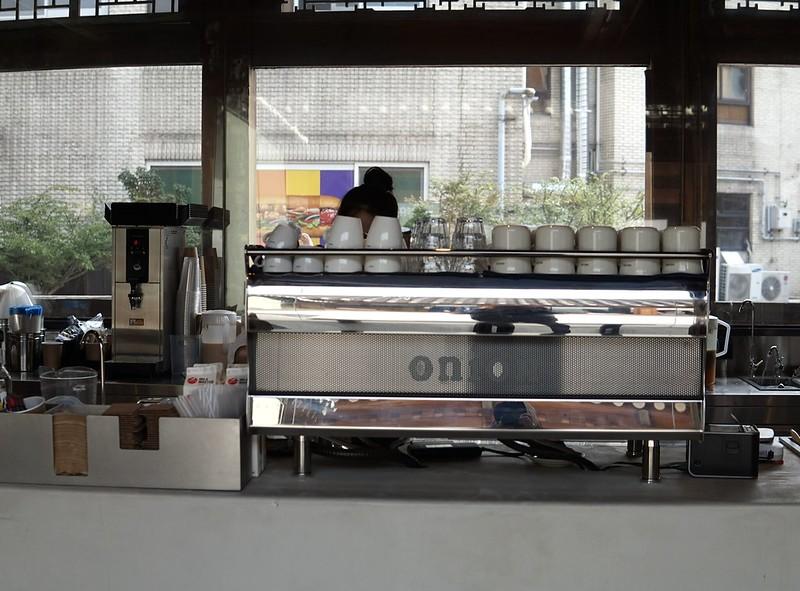 オニオン コーヒーを入れるところ