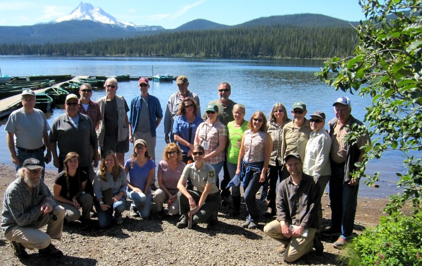 20190813_MtHood_Clack Headwaters field trip group photo by Robert Roth.