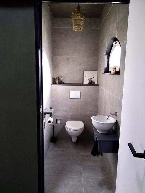 Toilet stoer industrieel huis
