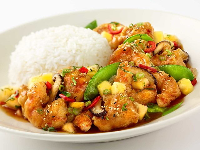 Crispy Pineapple Chicken Shrimp