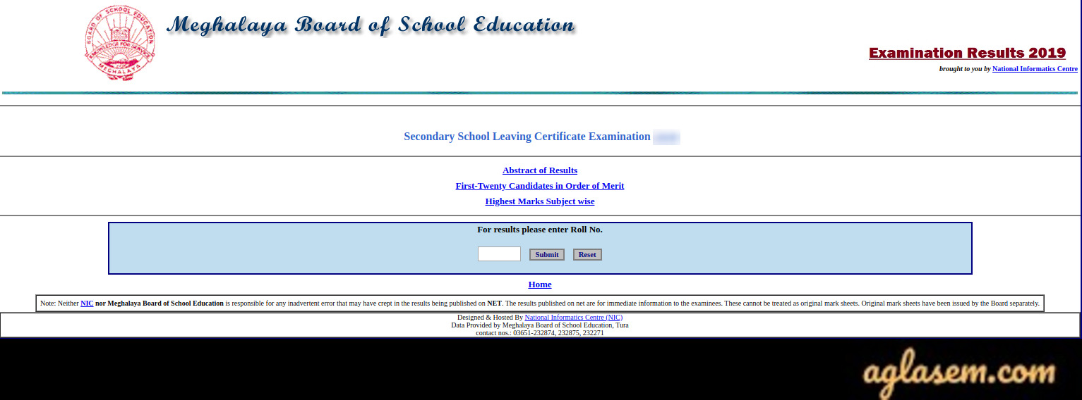 MBOSE SSLC result login