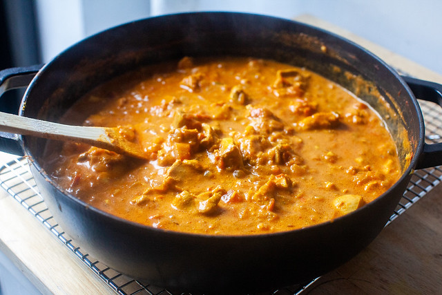 finished chicken curry