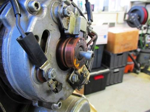 M6x12 Allan Bolt Inserted Into Alternator Rotor Allan Bolt Recess