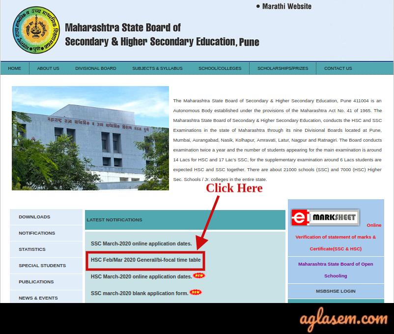 Maharashtra Time Table 2020