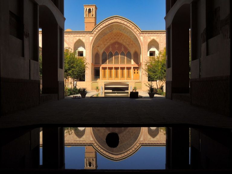 Beautiful Middle East Silk Road era palace - Kashan, Iran