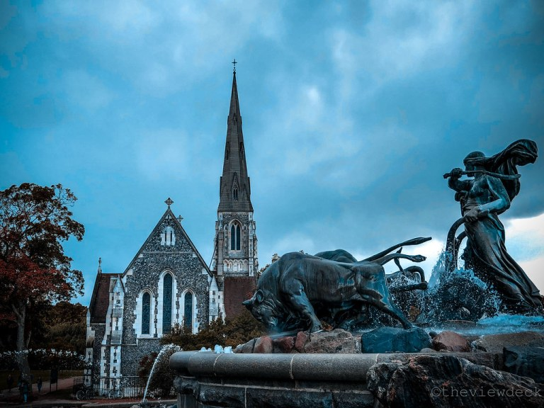 Gefion Fountain and St. Alban's Church