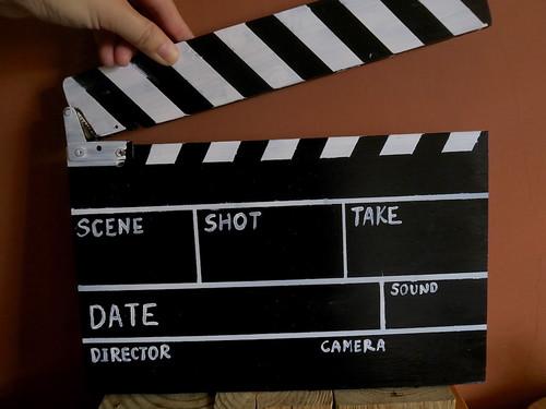 做一個電影拍板(15.1ys)