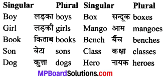 MP Board Class 6th General English Grammar 11