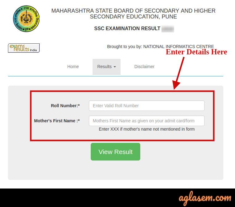 Maharashtra SSC Result Login