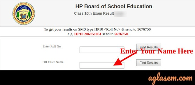 HP Board 10th name-wise result 2020