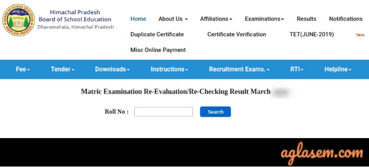 HPBOSE 10th Re-evaluation/ rechecking result