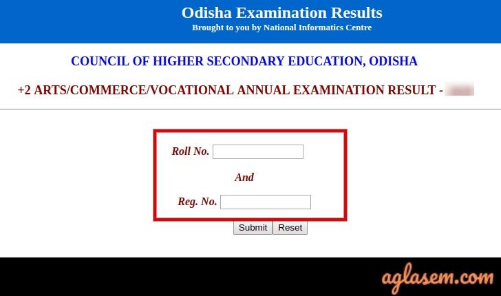 Odisha +2 Arts, Commerce, Vocational Result 2020