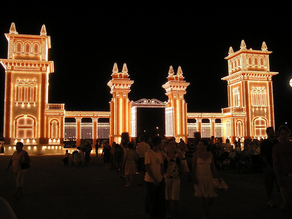 Feria de Agosto de Malaga 2006 de noche Recinto Ferial Cortijo de Torres Málaga 01a