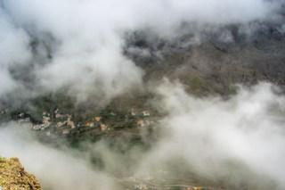 Nebel im Valle Gran Rey – Aufnahme aus 850 Metern Höhe ins Tal