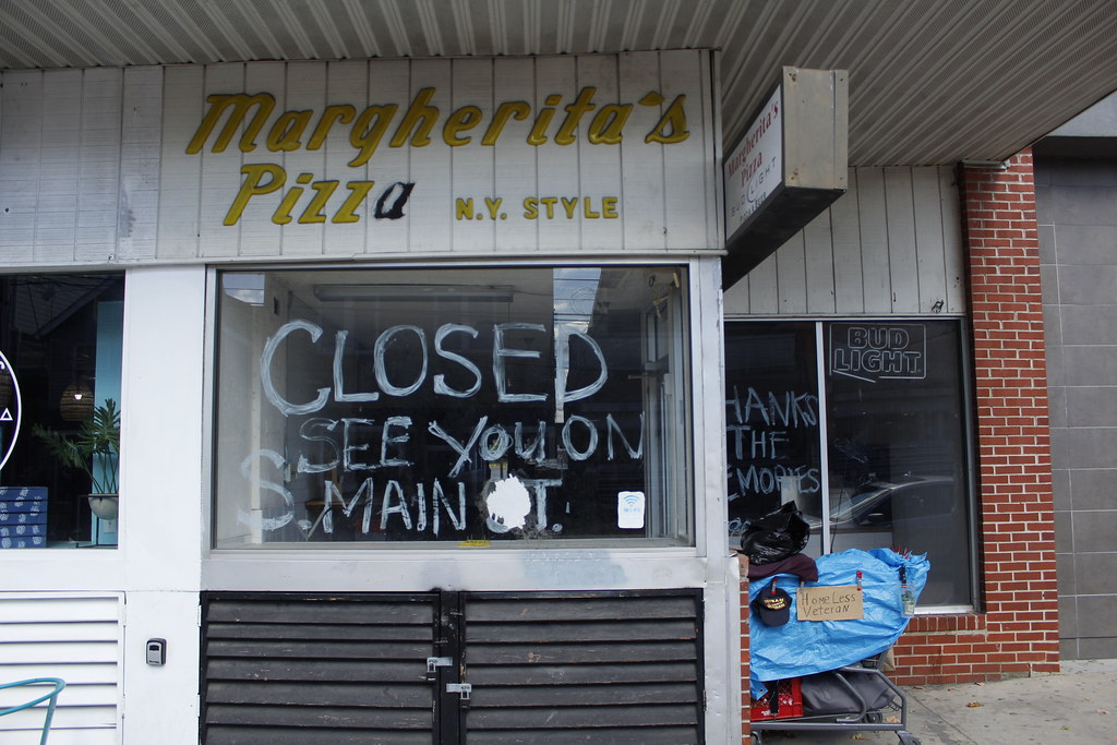 Closed businesses on Main - Louis Mason