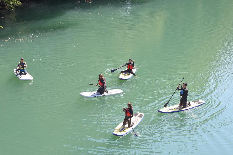 stand up paddling in lake shimako
