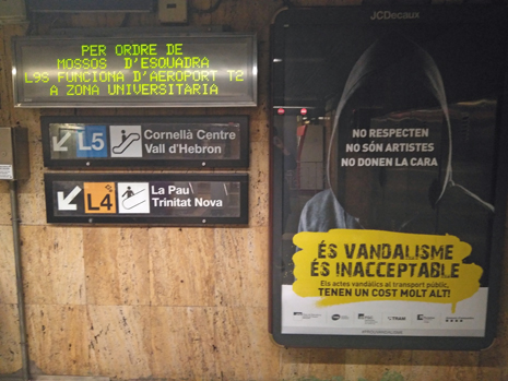 19j19 Metro de Barcelona L5 Verdaguer dirección Sants 19 octubre 2019 Foto MO variante Uti 465