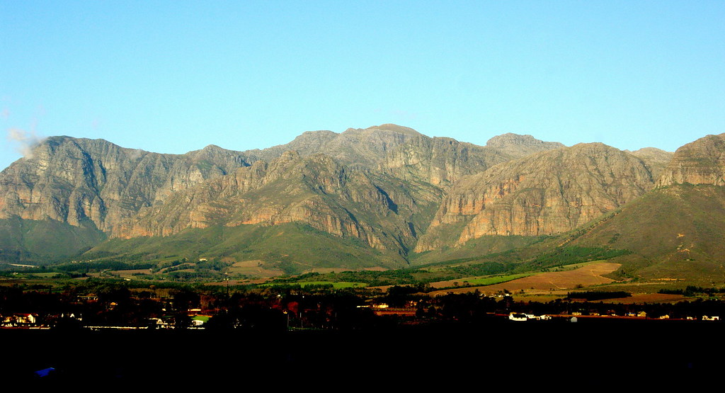 The mountains surrounding Paarl