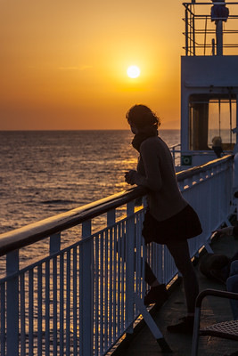 Anreise-Sonnenuntergang