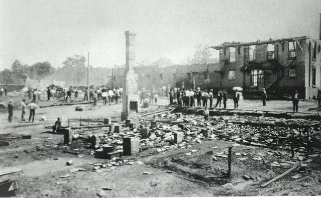 PIedmont and Northern Depot Destroyed by 1914 fire