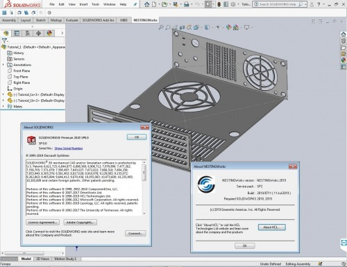 Working with Geometric NestingWorks 2019 SP2.0 for SolidWorks 2018-2020 full